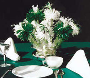 Green and White Anniversary Centerpiece