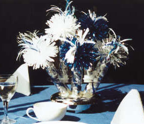 Blue Diamond Anniversary Centerpiece