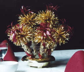 Burgundy and Gold Anniversary Centerpiece