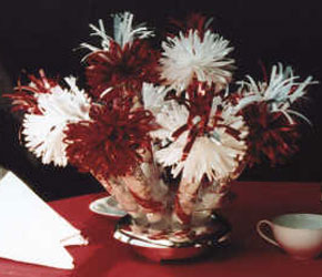 Red and White Anniversary Centerpiece