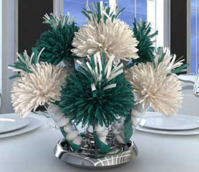 Teal Centerpiece