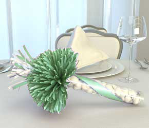 Mint and White Wedding Party Favor