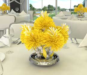 Yellow Shower Centerpieces