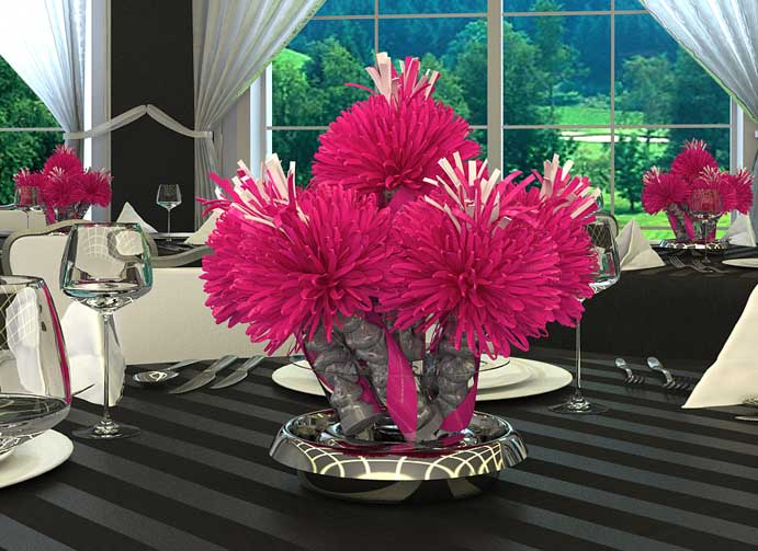Hot Pink Sweet Sixteen Centerpiece